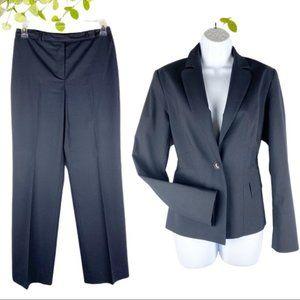 Louben Canada Pant Suit Jacket Navy Blue Size 4